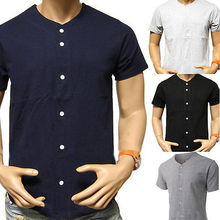 2017 Men's Fashion Baseball Jersey Shirt Plain Blank Color Team Casual Tee