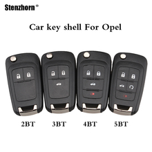Stenzhorn 2/3/4/5 Buttons Flip Remote Key shell For Opel Vauxhall Astra J Corsa E Insignia Zafira C Adam Mokka Karl key shell(China)