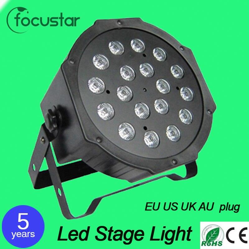 4pcs18X3W led stage light voice-control AC110-240V LED Flat SlimPar Quad Light LED DJ Wash Light Stage Uplighting No Noise<br><br>Aliexpress