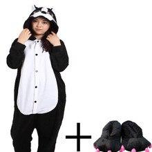 Черная пантера Комбинезоны комбинезон унисекс взрослых Leopard пижамы  Костюмы для косплея животных Onesie пижамы комбинезон с Та.. 8886119c89356