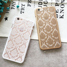 Hollow Out Flower Phone Case For Apple Iphone 6 Case Hard PC Capa For Iphone 6s plus 7 Plus Phone Case