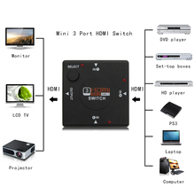 Multimedia 3 input 1 Mini 3 HDMI 1.3 Switch Switcher Splitter Output Box HDMI Selector For XOBX 360 PS3 for PS4 Smart HDTV 1080P