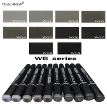 Touchnew gray tone Art Marker Set Alcohol Based brush pen liner Sketch Markers touch twin Drawing manga art supplies(China)