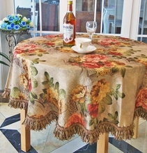 Double - sided brocade high - end European style table cloth new classical tablecloth coffee table cloth(China)