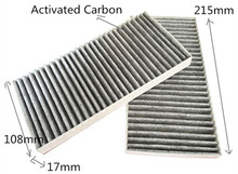 Free Shipping Manufacturer OEM 97133-2E910 Black Activated Carbon Car Cabin Air Filter for KIA 215*108*17mm CUK22142