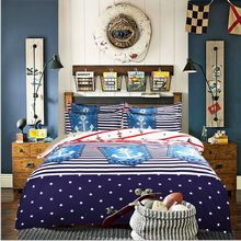 Free shipping Via UPS! Boat anchor bedding set twin/full/queen size 3/4pcs without filler home textile