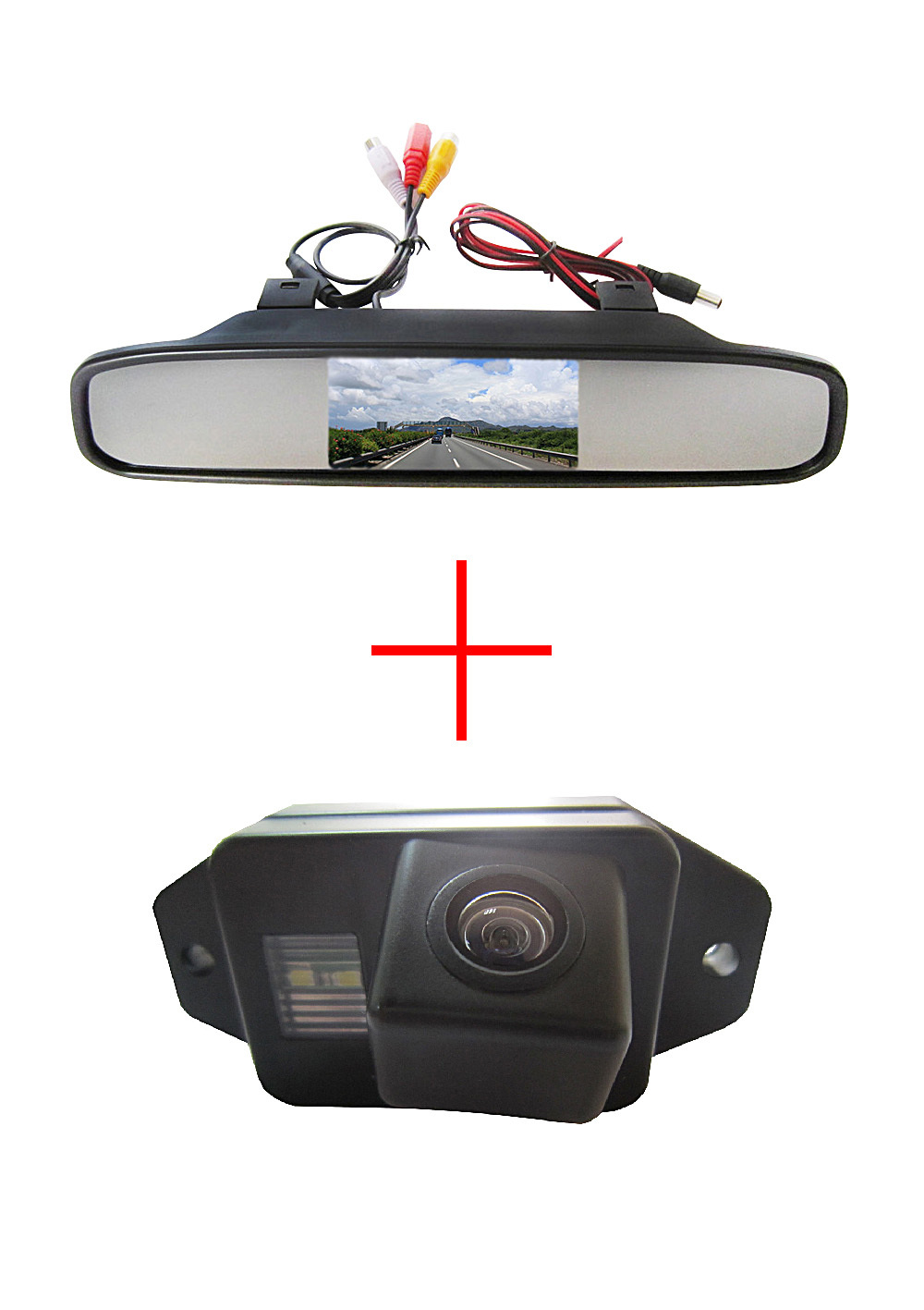 Color CCD Chip Car Rear View Camera for TOYOTA LAND CRUISER PRADO 2700 4000 + 4.3 Inch rearview Mirror Monitor(China)