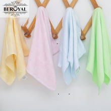 New 2017 Wholesale Baby Towel -- 50pc/Lot 25*48cm Bamboo Hand Towel Face Cloth Plain Dyed Children Bibs Soft Towels bathroom