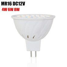 New LED MR16 DC 12V Lamp Bulb Light Bulbs 36leds 54leds 72leds 4W 6W 8W SMD2835 Energy Saving Lights Bomebillas LED for Home(China)