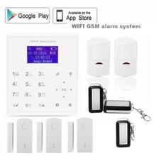 433mhz 2.4G Wireless gprs sms wifi gsm alarm system Android/IOS APP control Cloud service door sensor with rechargeable battery(China)
