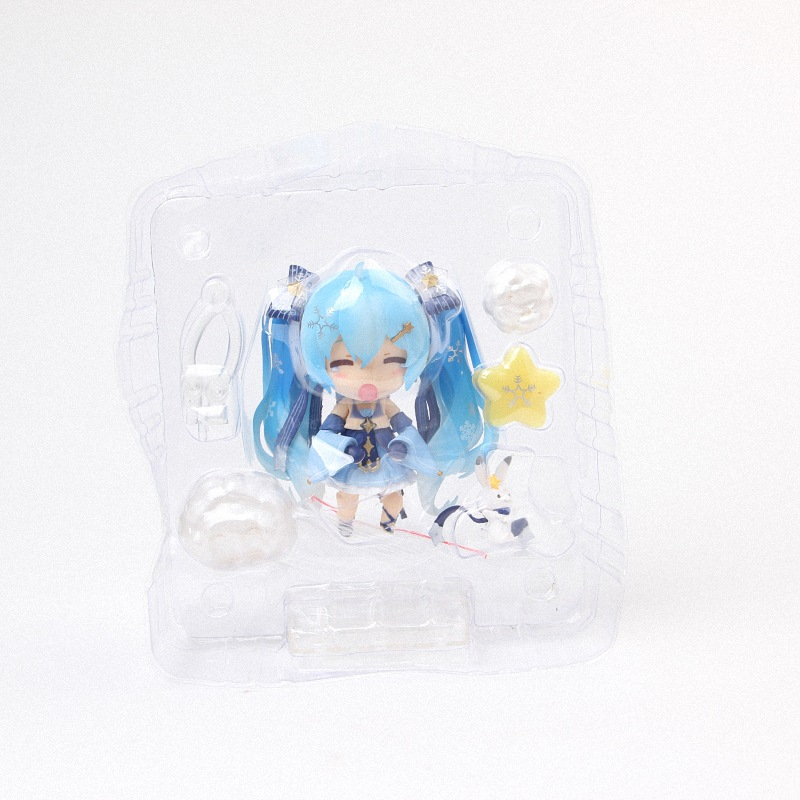 Hatsune Miku Mini Action Figure 110 scale painted figure Snow Miku Twinkle Snow Ver. PVC figure Toy Brinquedos Anime (10)