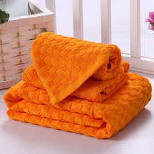 SunnyRain 3-Pieces Thin Bamboo Towel Set 390GSM Solid Color Bath Towel For Adults Face Towel Hand Towel High Absorbent(China)