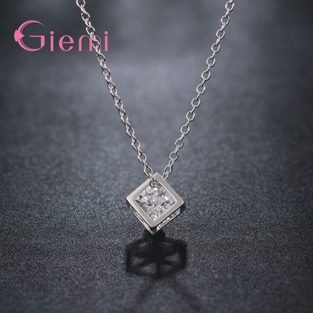 Simple-Style-Elegant-Women-Square-Shape-925-Sterling-Silver-Necklaces-New-Long-Cubic-Zirconia-Pendant-Fine (2)