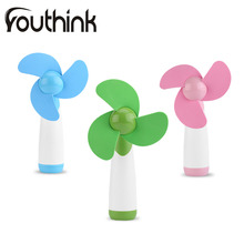 YOUTHINK 1Pcs Portable Handheld Mini Cooling Cool Fan Super Mute Two AA Battery Operated for Home Office Travel Blue Green Pink