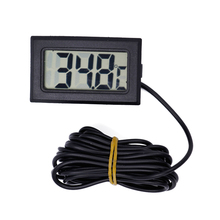 New Digital LCD Probe Fridge Freezer Thermometer temp Thermograph Meter probe 2m tester for fish tank(China)