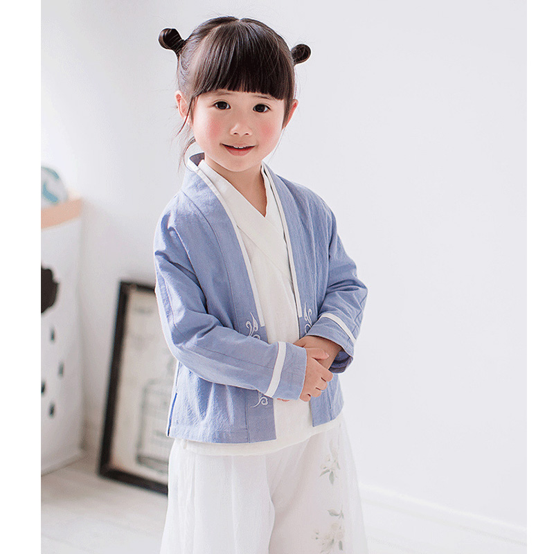 2017 autumn girls ancient chinese traditional costume hanfu dress cosplay princess children hanfu dress dance clothes for child<br>