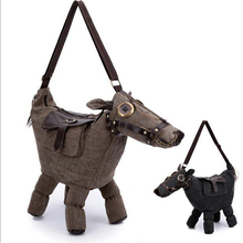 New Storage Bag canvas Donkey Horse Shape Bag Can be as a Pillow or home decoration Tote Bag Messenger Bag Free Shipping#S530