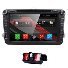 8 Inch 1024*600 2 Din Android 6.0 VW Car Audio DVD Player GPS For GOLF 6 Polo Bora JETTA B6 PASSAT Tiguan SKODA OCTAVIA 3G