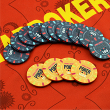 Delicate Ceramic Poker Chips Professional Casino Chips Texas Hold'em Poker Wholesale Wheat Crowne Poker Chips Gambling Token(China)