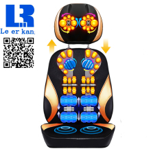 LEK918S Electric vibrating back massager high quality body  Heating massage chair sofa device Neck massage cushion pillow chair