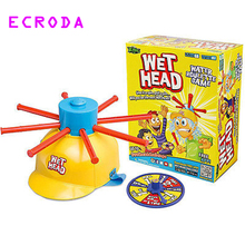 Ecroda 2017 New Parents Kids Wet Head Water Roulette Family Game Fun Kid Challenge Hat Practical Jokes Toy(China)