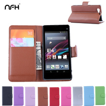 Buy NFH Sony Xperia Z1 Compact Retro Leather Flip Cover Case Z1mini Luxury Wallet Card Slot Cover Case Sony Z 1 Mini for $3.93 in AliExpress store