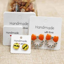 Buy Various design DIY handmade love jewelry earring packing card cute stud/drop earring display card 100pcs per lot for $2.77 in AliExpress store