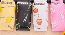 CUTE 4Snacks , Cake Etc. PU 21CM Gift Coin Storage box Purse Pouch - Sundries Pencil Storage Box Pouch Holder(China)