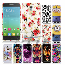 For Alcatel One Touch Idol 2 Mini S 6036 1 Pcs/lot Soft Butterfly Flower Design Cell Phones Case Cover Skin