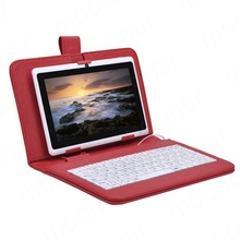 "Free stylus keyboard case 9 inch Tablet Keyboard Leather case fashion 9"" can be russian keyboard leather case Tablet PC"