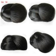 10cm Fashon Women's Heat Resistant Hair Chignon New Clip in Bun Wig Hair Ponytail Drawstring Bun Hairpiec K6