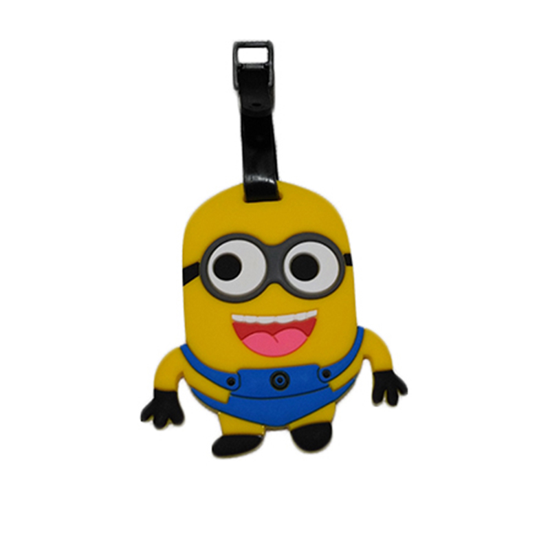 Travel Accessories Luggage Tag Suitcase Cartoon Style Cute Minions Silicone Tags Portable Travel Label Bag Tag Obag Accessories (17)