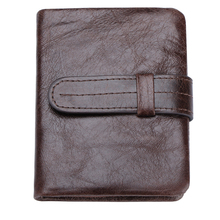 Hot Wallet New Men Wallets 100% Cowhide Genuine Leather Wallet Men Purse Vintage Casual Hasp Short Man Wallet Coin Male Zipper