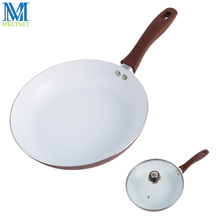 26cm Non-stick Frying Pan With Ceramic Coating And Induction Cooking Ceramic Pan Multipurpose Skillet With/Without Glass Lid(China)