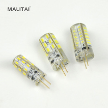 1 x SMD 3014 / 2835 G4 3W 5W 6W LED Crystal lamp light DC 12V High End Silicone Body LED Bulb Chandelier replace 20W 30W Halogen(China)