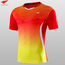 Top quality Men soccer jerseys table tennis football shirts sports running fitness badminton jersey quick dry $1.8 custom print(China)