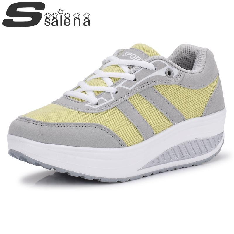 Spring Women Casual Shoes Breathable Ladies Leisure Shoes Comfortable Beauty Shook His Swing Shoes B761<br><br>Aliexpress