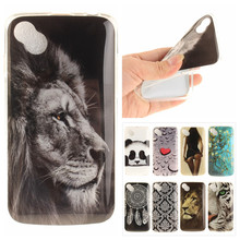 Cute Animal Phone Back Cover sFor Wiko Sunset 2 / Wiko Sunny Coque Soft TPU Silicone Panda Tiger Lion Cartoon Vintage Case