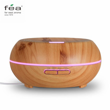 FEA Essential Oil Diffuser 200ml Aroma Humidifier Aromatherapy Ultrasonic Cool Mist with Four Timer Settings 7 Color LED Lights