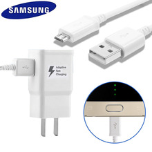 SAMSUNG Original Fast Charge Wall Charger + 1.2M USB Data Cable For Samsung Galaxy S6 Edge S7 Edge Note 4 Note 5 Travel Charger