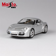 MAISTO Car Model 1:18 Cayman S Simulation Real Alloy Model Cars Toys With Openable Doors Home Decoration Accessories