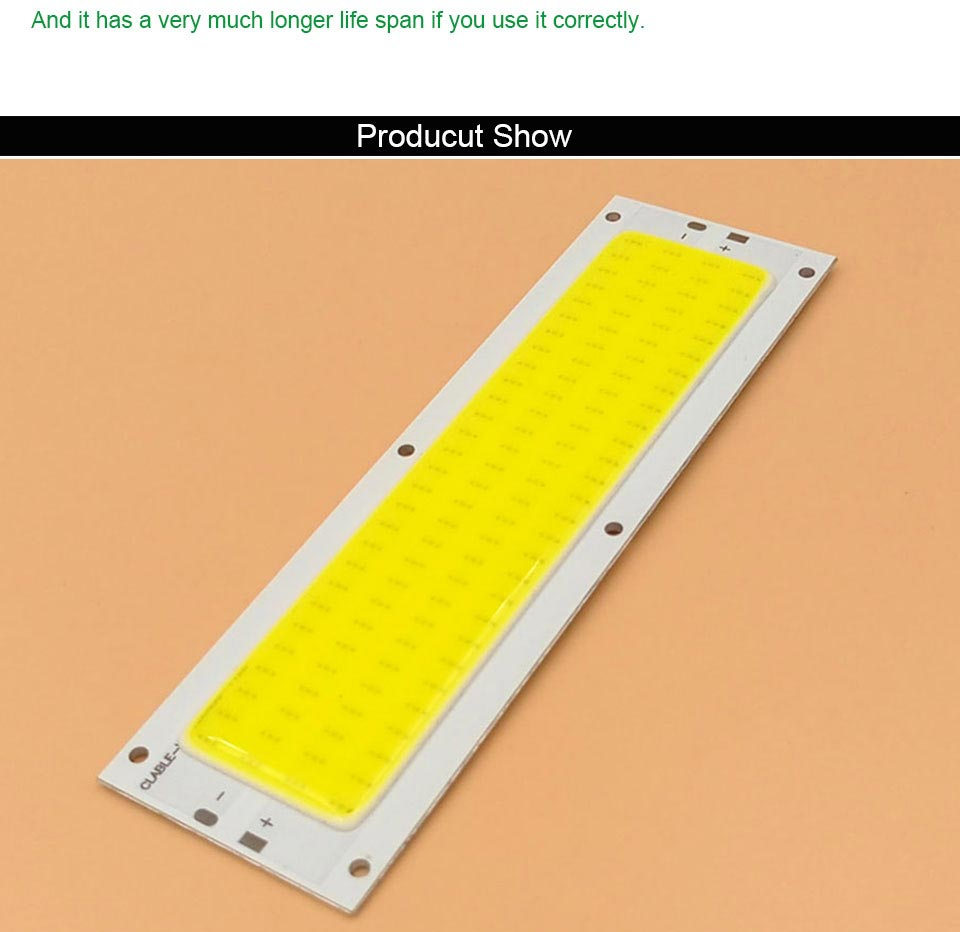 DC12V COB LED Strip Light Source 5W 10W 20W 50W 200W 300W LED Bulb White Blue Red Flip Chip COB Lamp DIY House Car Lighting 12V (22)