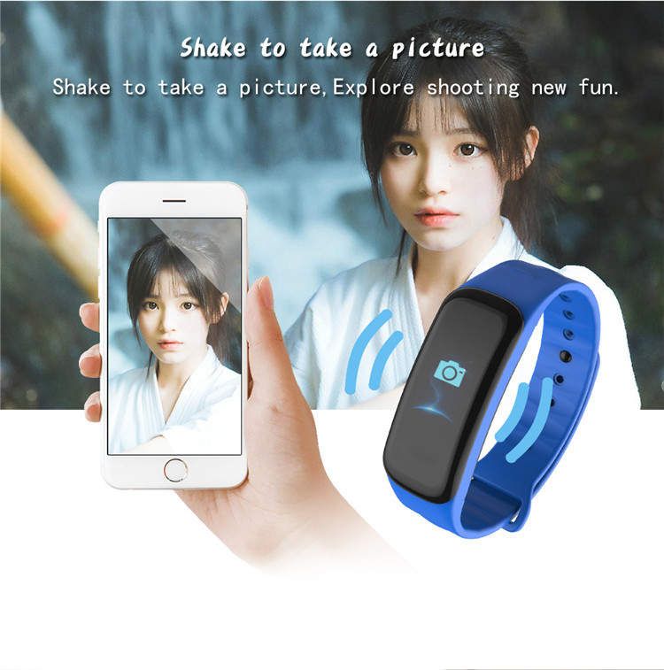 Original C1Plus Smart Bracelet Color Screen Blood Pressure Waterproof Fitness Tracker Heart Rate Monitor pk fitbits miband 3 10