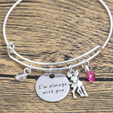 12pcs Baby Deer Fawn Bracelet I'm Always With You Deer Father Daughter Mother Daughter bangles Crystals(China)