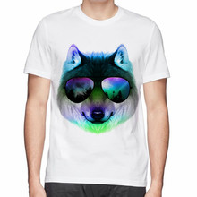 new style design Night Wolf printed cotton t shirt men fashion o-neck t-shirt summer hot sale(China)