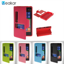 Double View Window Flip Leather 4.3for Nokia Lumia 820 Case For Microsoft Nokia Lumia 820 Cell Phone Cover Case