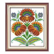 JoySunday chinese counted cross stitch DIY Fancied flowers DMC14CT11CTcotton needlework livingroom restaurant hotel painting