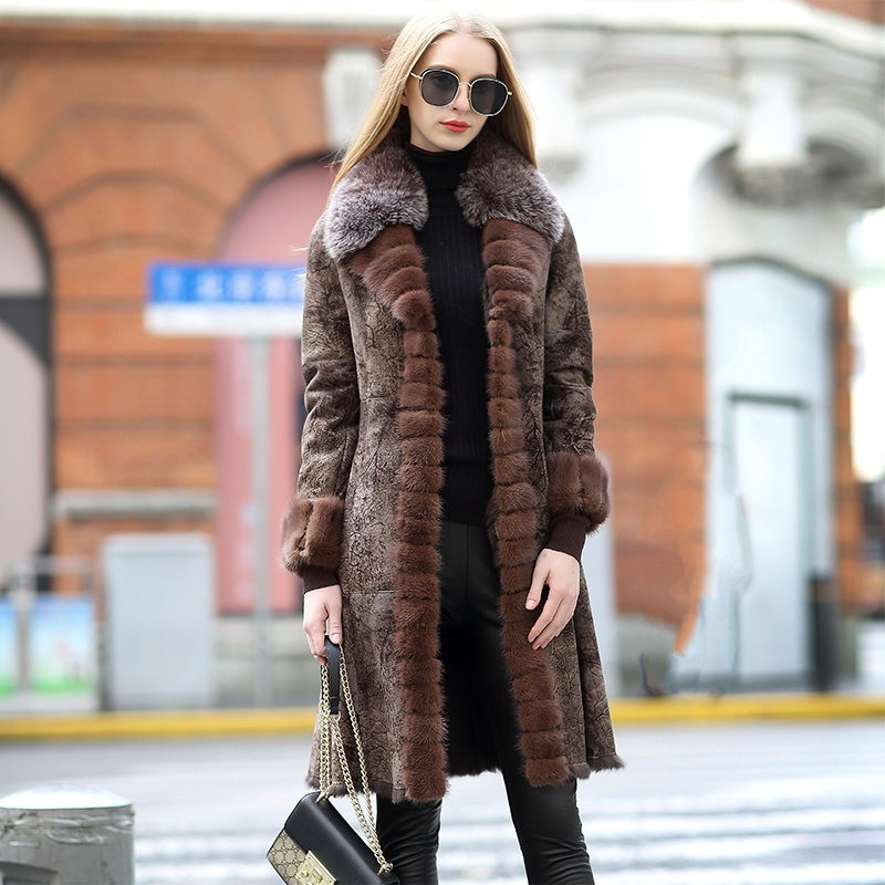 genuine real fur and leather jacket women (1)