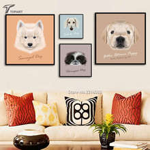Home Decor Dog Wall Pictures Canvas Painting Modern Color Cute Puppy Animals Large Art Prints Poster For Room Walls No Framed