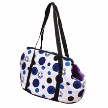 Sweet Circles and Dots Pet Carrier Bag Dog Cat Carrier Shoulder Message Bag Warm Winter Dog Slings Bags Dog Carrier